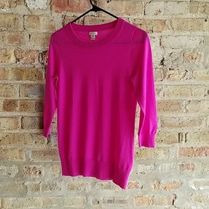 JCrew Pink Merino Wool Sweater